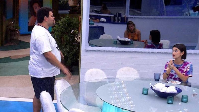 Babu Santana e Manu Gavassi no Big Brother Brasil 20