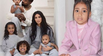North West é a primogênita de Kim e Kanye - Instagram