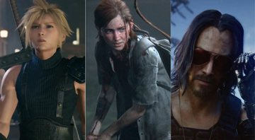 Personagens de Final Fantasy VII Remake, The Last of Us Part II e Cyberpunk 2077 - YouTube