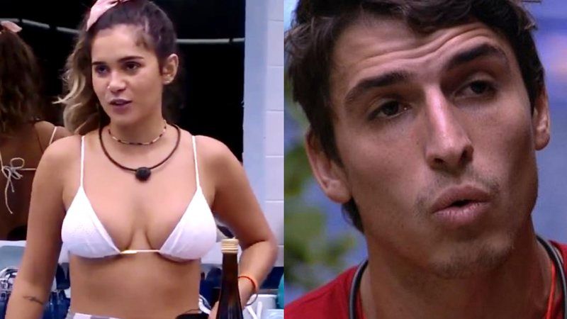 Gizelly e Felipe Prior na casa do BBB20