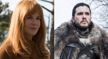 Nicole Kidman em seu papel em Big Little Lies e Kit Harington como Jon Snow em Game of Thrones - HBO