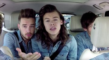 Liam e Harry durante Carpool Karaoke com o apresentador James Corden - YouTube