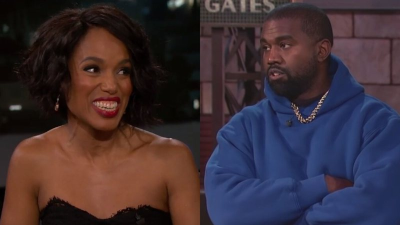 Kerry Washington e Kanye West em visitas ao programa
