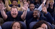 James Corden e Kanye West no Airpool Karaoke - YouTube/The Late Late Show with James Corden
