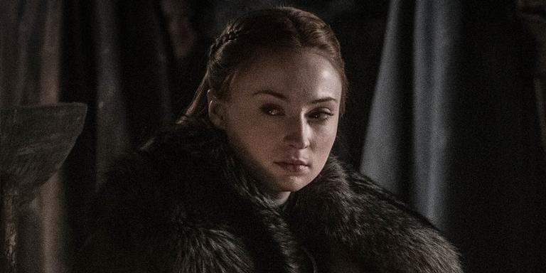 Sophie Turner como Sansa Stark na oitava temporada de 'Game of Thrones'.