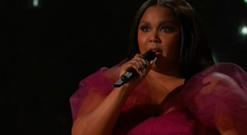 Lizzo no palco do American Music Awards - ABC