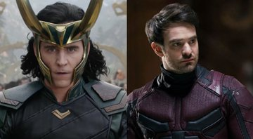 Tom Hiddleston como Loki, e Charlie Cox como  Demolidor - Marvel