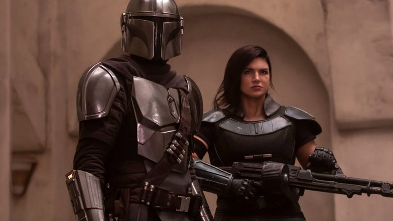 Cena da série The Mandalorian, do Disney+