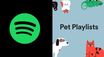 Logo do Spotify e capa de Pet Playlist - Spotify