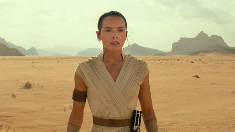 Daisy Ridley como Rey em Star Wars: A Ascensão Skywalker