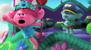 Os personagens Poppy e Branch em cena do trailer de Trolls World Tour - YouTube