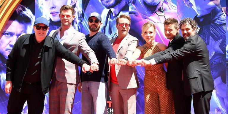 Estrelas de Vingadores em evento no TCL Chinese Theatre