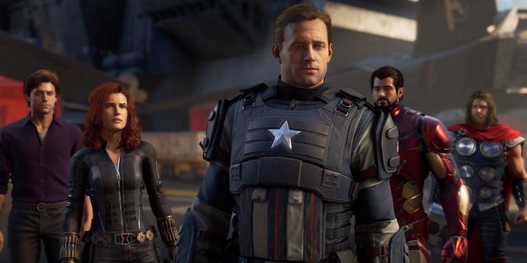 Cena do trailer do jogo 'Avengers: A-Day'.