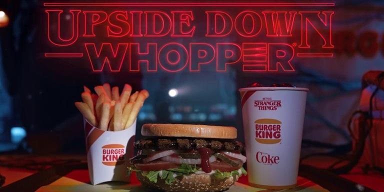 Whopper invertido do Burger King