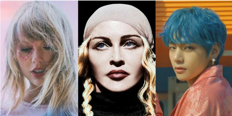 Taylor Swift, Madonna e BTS.