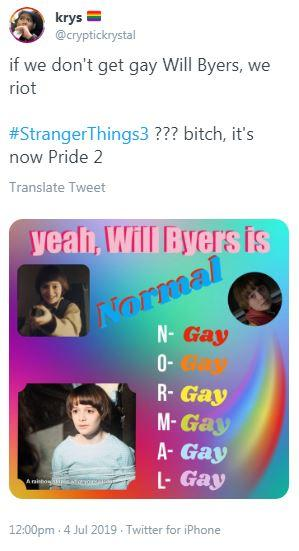 is will gay on stranger things